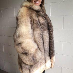 Jackets & Blazers - Mint Condition Crystal Fox Fur Jacket Coat